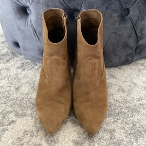 Vince Camuto Suede Western Booties Size 7